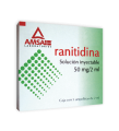 RANITIDINA SOL. INY. 50 MG/ 2 ML CAJA CON 5 AMPOLLETAS DE 2 ML